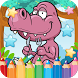 Dino Paint Draw Coloring Book