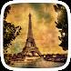 Gold Eiffel Tower Paris by Heartful Theme