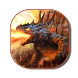 Immortal Fire Dragon Keyboard by live wallpaper collection