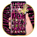 Pink Zebra Glittering Theme by Launcher Fantasy
