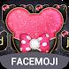 Pink Black Twinkle Minny Bowknot Theme by freethemekeyboard