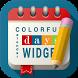 Colorful Days Calendar Widget