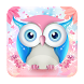 Cute Pink Owl Keyboard by Echo Keyboard Theme