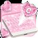 Pink Heart Glitter Keyboard Theme by Theme Wizard