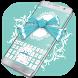 Blue Bowknot Keyboard by Bestheme Keyboard Designer 3D &HD