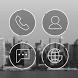 Round Line Atom Iconpack by DLTO