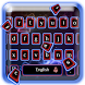 Neon Blue Red Keyboard Theme by Luxury Keyboard Theme