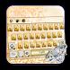 Glitter Golden Keyboard by creative 3D Themes