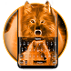 Flaming Wolf Keyboard Theme by Cool Themes and art work