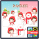 노랑박스 단바리와 눈사람 카카오톡 테마 by iConnect