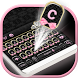 Pink & Gold Black Lace Keyboard by Theme Wizard