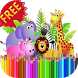 Coloring Book Zoo Animals by Wonder Games