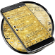 SMS Messages Glitter Gold Glass Theme by Themes Messages Contacts Dialer by Double L