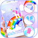 Cute Rainbow Unicorn Theme by ChickenAnt Themes