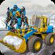 Snow Excavator Crane Robot Transformation Game by White Sand - 3D Games Studio