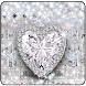 Silver Crystal Diamond Heart Theme