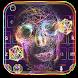 Neon skull Keyboard Theme Neon Line by NeoStorm We Heart it Studio