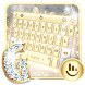 Gold Silver Keyboard Theme by Sexy Free Emoji Keyboard Theme