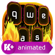 Golden Fire Animated Keyboard by Animated Themes