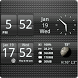 Sense Analog Small Black 4x1 by Factory Widgets