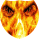 Skull in flames Live Wallpaper by Firamo