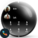 Flat Black White Dialer Theme by Themes Messages Contacts Dialer by Double L
