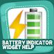 Battery Indicator Widget Help