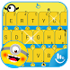 Happy Banana Keyboard Theme by Sexy Free Emoji Keyboard Theme