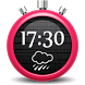 Dark Clock Weather Widget by Most Useful Apps