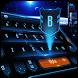 Blue tech 3D future keyboard by Bestheme keyboard Creator