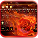 Fire Rose keyboard Theme flame by Fantasy Keyboard studio