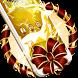 Golden Laser Light Deer Christmas Theme by Alice Creative Studio