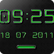 NEON GREEN Digi Clock Widget by memscape