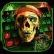 Pirate Keyboard Theme green fire skull by NeoStorm We Heart it Studio