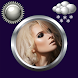 Woman Clock Weather Widget by Compass Clock and Weather
