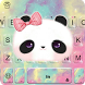 Lovely Bowknot Panda Keyboard Theme by Fashion theme for Android-2018 keyboard