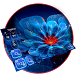 Neon Flower Typany keyboard by Cool Themes and art work