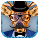 Animal Hipster Sticker Face by MX Apps