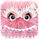 (FREE) Pink Furry Monster Keyboard Theme by ChickenAnt Themes