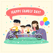 Happy Family Day Greeting Cards by Queen8