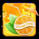Orange Waterdrops Keyboard by Enjoy the free theme