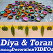 DIYA Decoration Idea Toran Making Design VIDEOs by ALL Concept Tutorial VIDEOs Apps 2017-18