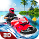 Water Bike Surfing Race: Miami Beach Stunts Ride