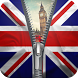 UK flag zipper lock screen by Group Support APPS