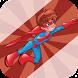 Super Spider Hero Man Flying by JackRowe