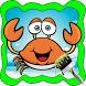 Crabs Family Cartoon Coloring by Numchok Jaroen