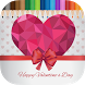 Happy Valentine Coloring Book by DellZee
