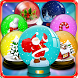 Christmas Snow Globes Matching by Fat Panda