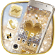 Gold Shine Glitter Heart Theme by Launcher Fantasy