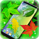 Leaves Magic Touch on Screen by 3D HD Moving Live Wallpapers Magic Touch Clocks